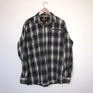 Harley Davidson Flannel Shirt Sz Large